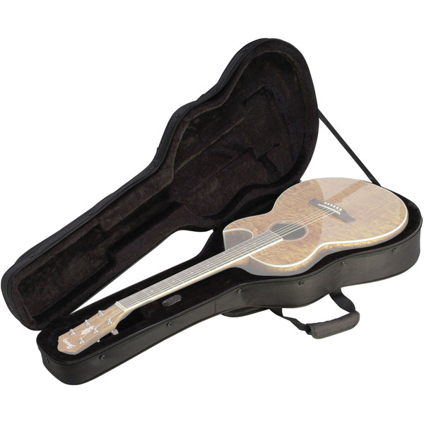SKB Thin-line Acoustic / Classical Guitar Soft Case - Open (Guitar Not Included)