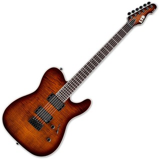 ESP LTD TE-401FM Electric Guitar, Dark Brown Sunburst