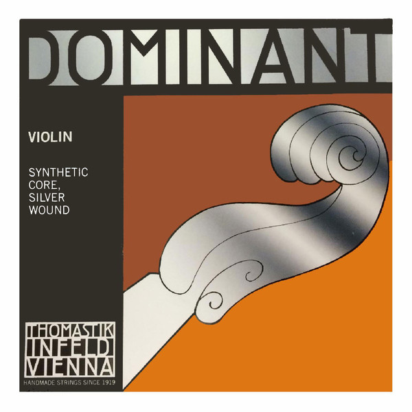Thomastik Dominant Violin D String, Silver Wound, 4/4 Size, Light