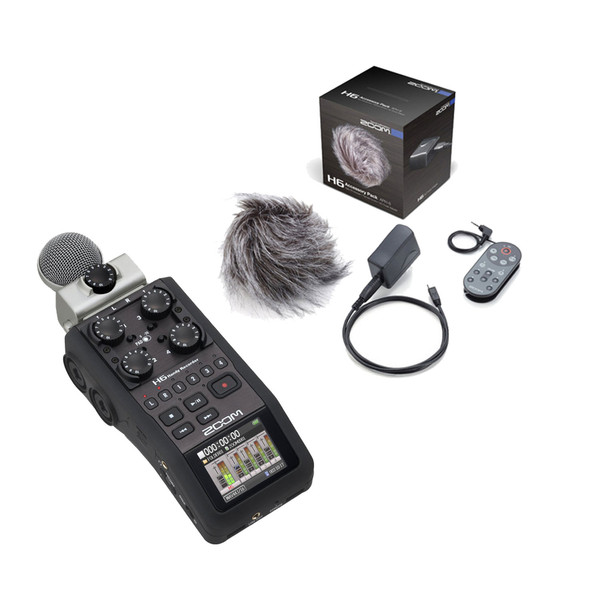 Zoom H6 Handheld Recorder with Accessory Pack