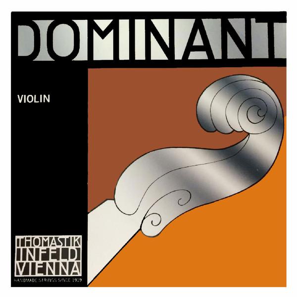 Thomastik Dominant Violin String Set, Steel E, 4/4 Size, Heavy