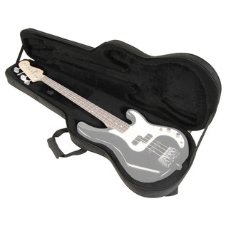 SKB SCFB4 Electric Universal Bass Soft Case, EPS Foam - Open View 2 (Guitar Not Included)