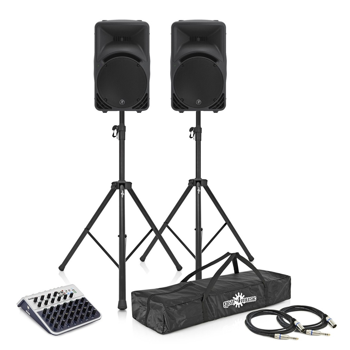 Mackie Srm450 V3 Pa System With Mixer Stands Cables At Gear4music Speaker Wiring Loading Examples