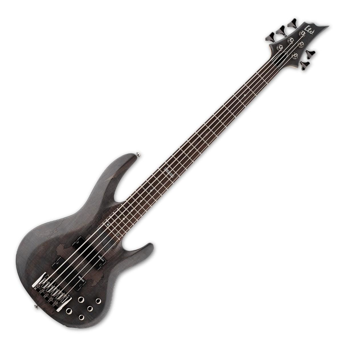 esp ltd b 205sm 5 string bass guitar see thru black satin at. Black Bedroom Furniture Sets. Home Design Ideas