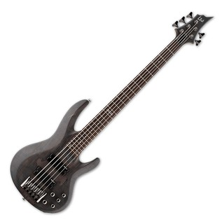 ESP LTD B-205SM 5 String Bass Guitar, See Thru Black Satin