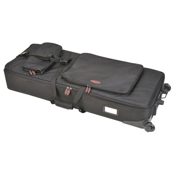 SKB 61-Key Keyboard Soft Case with Wheels - Angled View 2