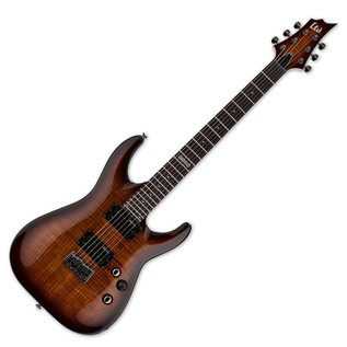 ESP LTD H-101FM Electric Guitar, Dark Brown Sunburst