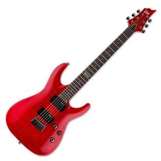 ESP LTD H-101FM Electric Guitar, See Thru Red