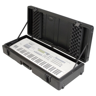 SKB Roto Moulded 61 Note Keyboard Case - Open (Keyboard Not Included)