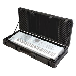 SKB Roto Moulded 76 Note Keyboard Case - Open (Keyboard Not Included)