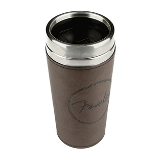 Fender Old West 16oz Travel Mug, Brown Leather