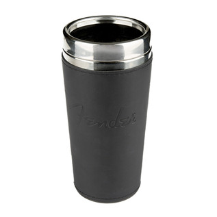 Fender Blackout 16oz Travel Mug, Black Leather