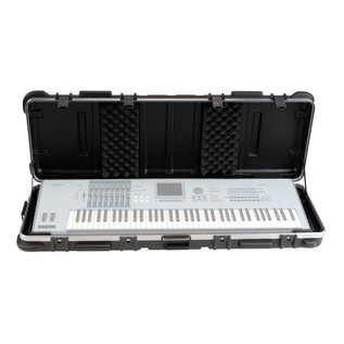 SKB ATA 61 Note Keyboard Case w Wheels - Open (Keyboard Not Included)