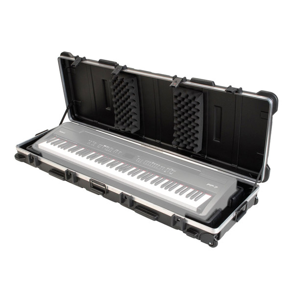 SKB ATA 88 Note Slim Line Keyboard TSA Case - Open (Keyboard Not Included)