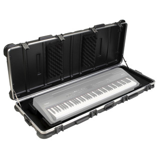 SKB ATA 88 Note Keyboard TSA Case With Wheels - Open (Keyboard Not Included)