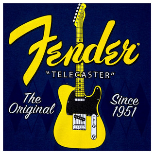Fender Telecaster Since 1951 T-Shirt, Argyle Blue, XXL