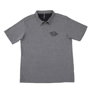 Fender Industrial Polo Shirt, Grey, Medium