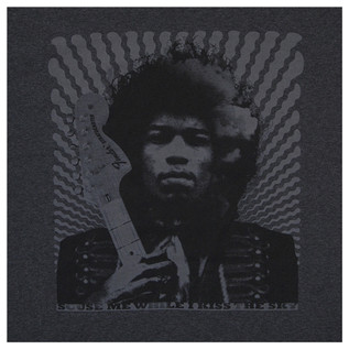 Fender Jimi Hendrix Kiss The Sky T-Shirt, Grey, XXL