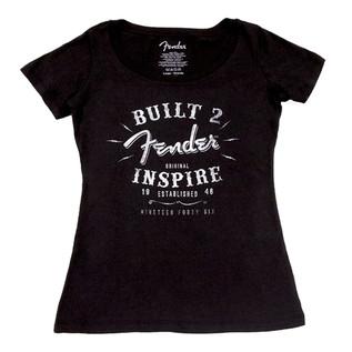 Fender Ladies Built To Inspire T-Shirt, Black, Medium