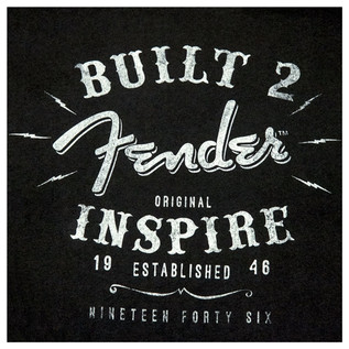 Fender Ladies Built To Inspire T-Shirt, Black, Large