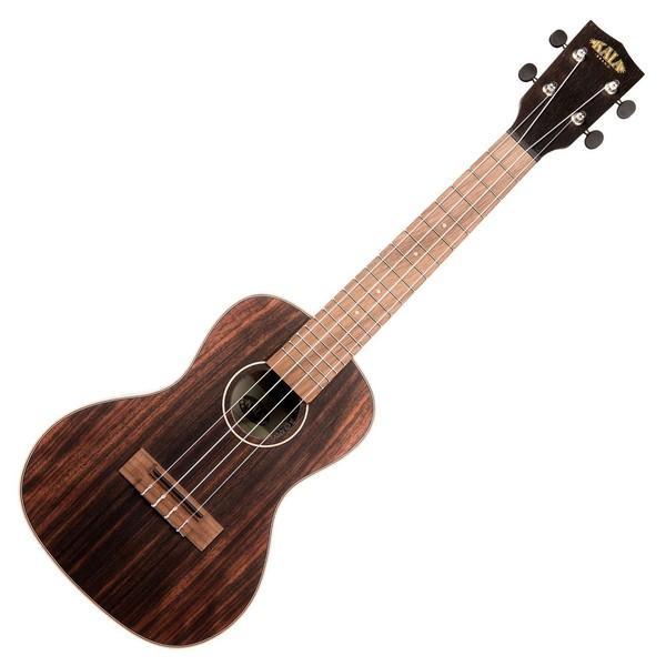 Kala KA-EBY-C Striped Ebony Acoustic Concert Ukulele, Natural Satin