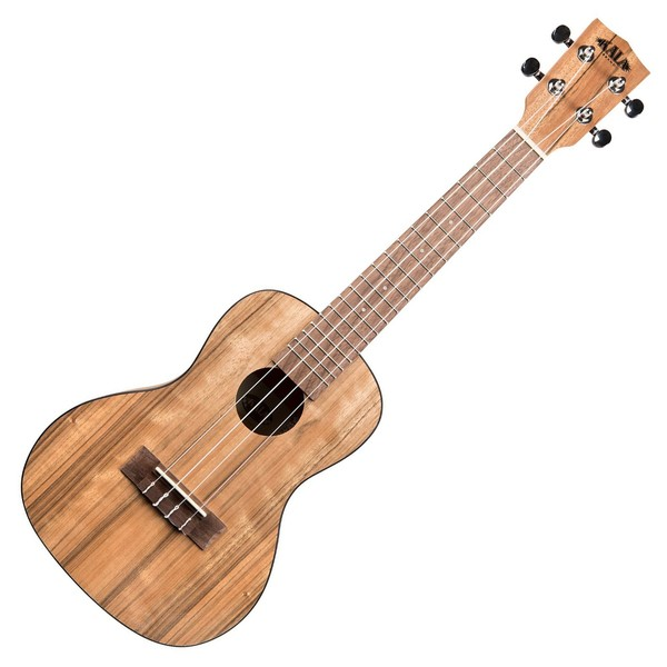 Kala KA-PWC Pacific Walnut Acoustic Concert Ukulele, Natural Satin