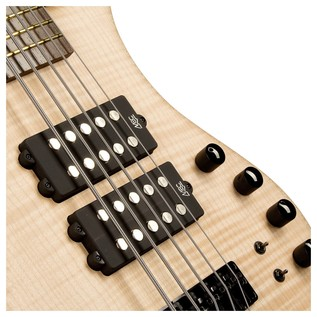 Warwick Corvette $$ 5-String Bass Guitar, Natural Oil Finish