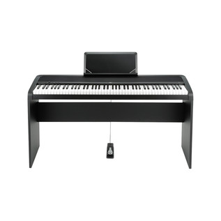 Korg B1 Digital Piano Wooden Stand Package, Black