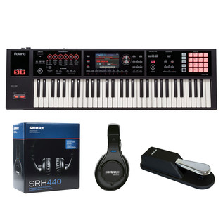 Roland FA-06 Music Workstation with Headphones and Pedal - Bundle
