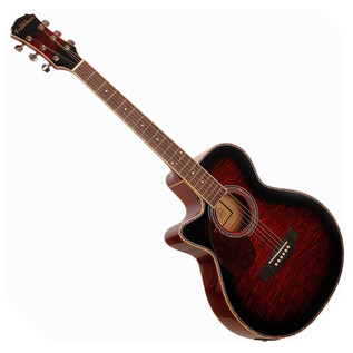 Freshman FA1AWRLH Electro Acoustic Guitar Wine Red
