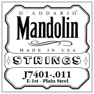 Single Mandolin Plain Steel 011/J74 1st