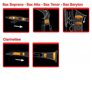 GEWA Saxmute Soprano Saxophone Mute, One Piece Neck
