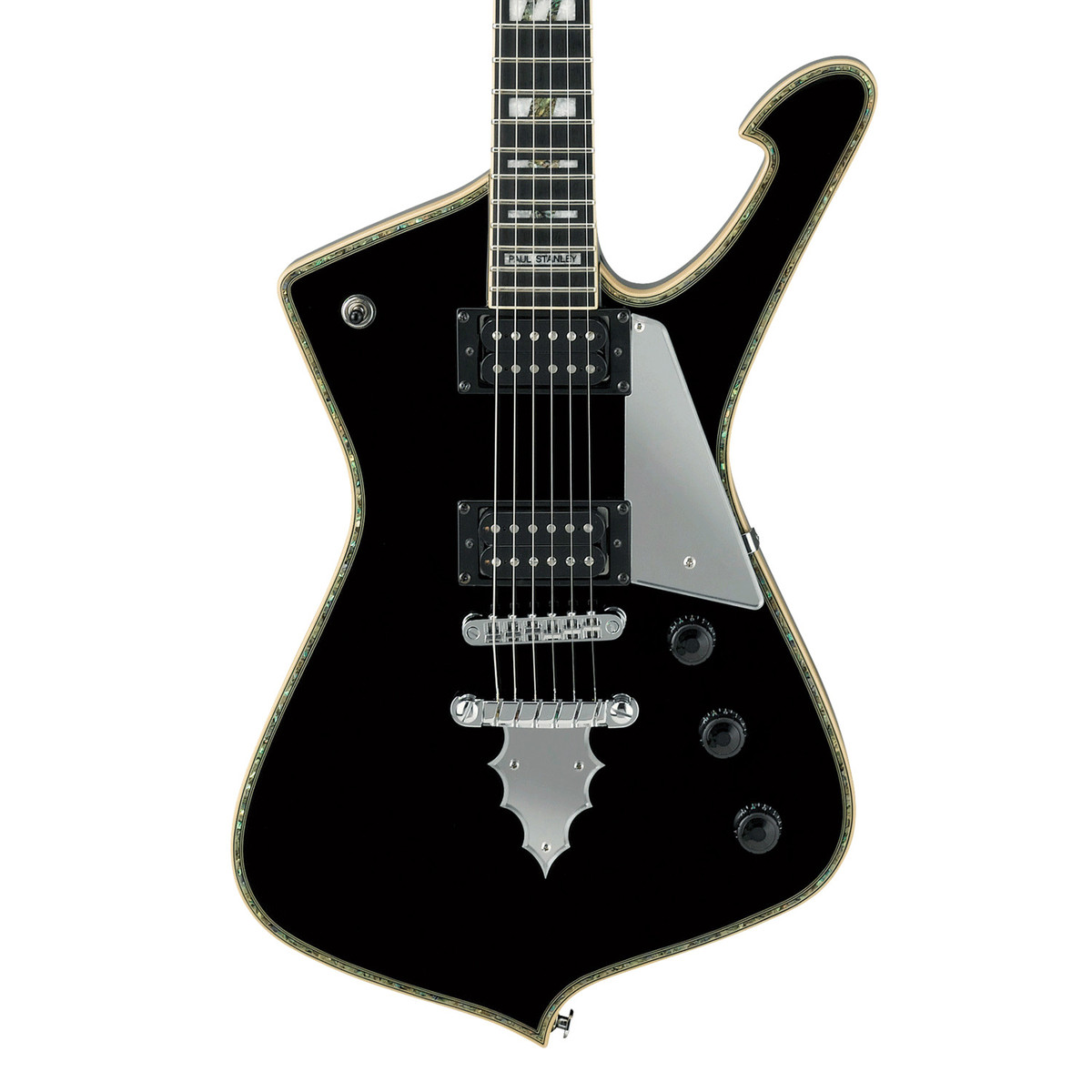 ibanez paul stanley ps120 bk signature electric guitar black ex demo at gear4music. Black Bedroom Furniture Sets. Home Design Ideas