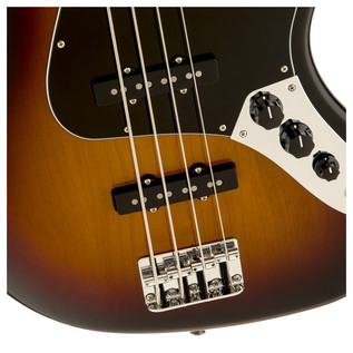 Fender Classic 70s Jazz Bass Guitar, 3 Colour Sunburst