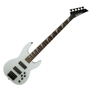 Jackson CBXNT V Bass Guitar, Snow White