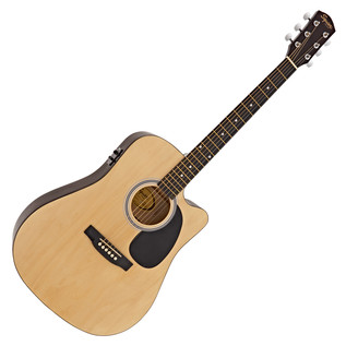 Squier By Fender SA-105CE Dreadnought Cutaway; Natural