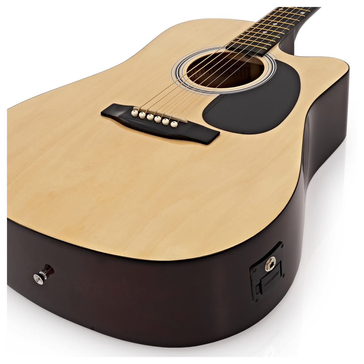squier by fender sa 105ce electro acoustic guitar natural at gear4music. Black Bedroom Furniture Sets. Home Design Ideas