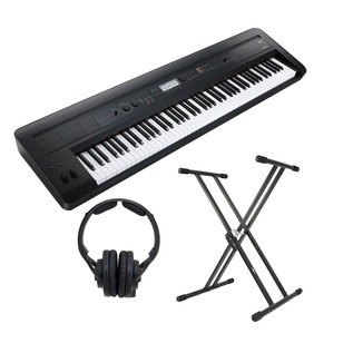 Korg KROSS 88-Key Music Workstation, with KRK Headphones and Stand