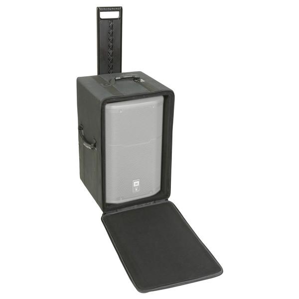 SKB Speaker Soft Case w/Wheels and Pull Handle - Angled Open (Speaker Not Included)