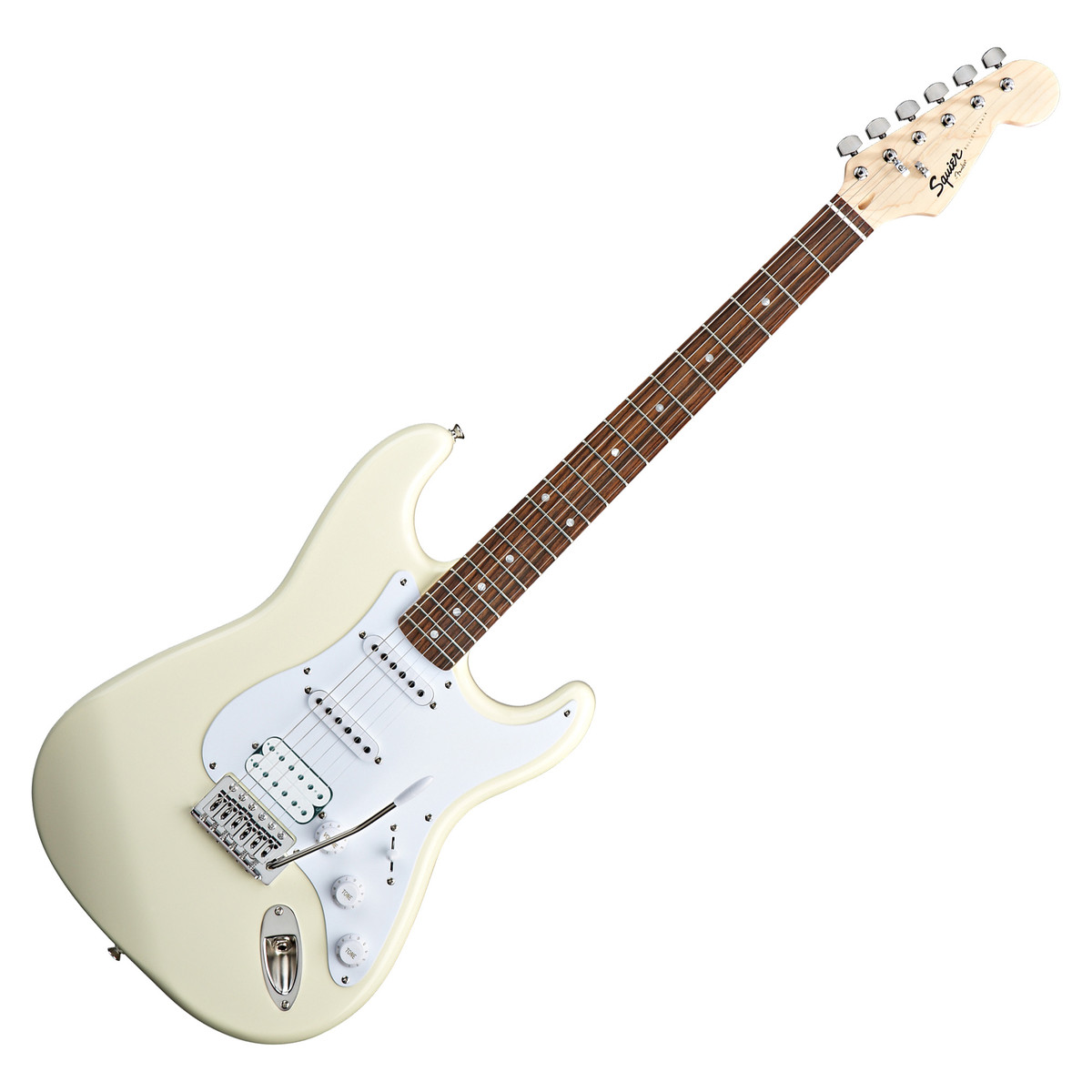 disc squier by fender bullet stratocaster with hss arctic white at. Black Bedroom Furniture Sets. Home Design Ideas