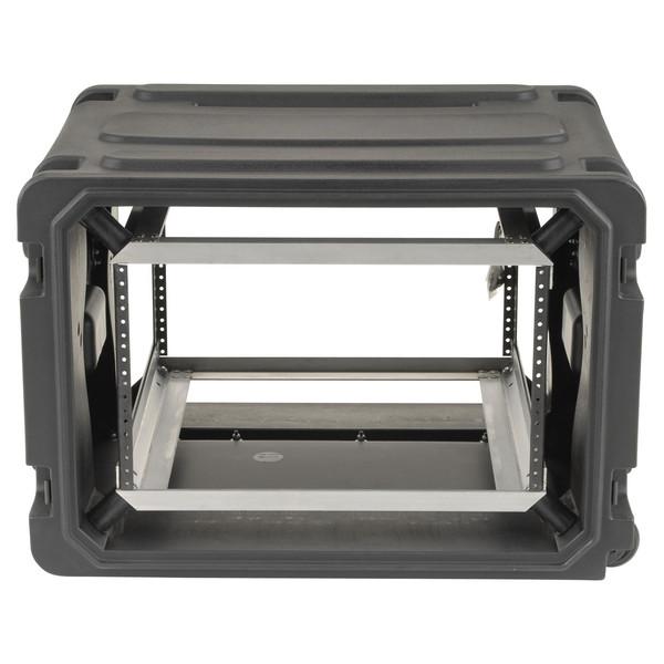 "SKB 20"" Deep 6U Roto Shockmount Rolling Rack - Front"