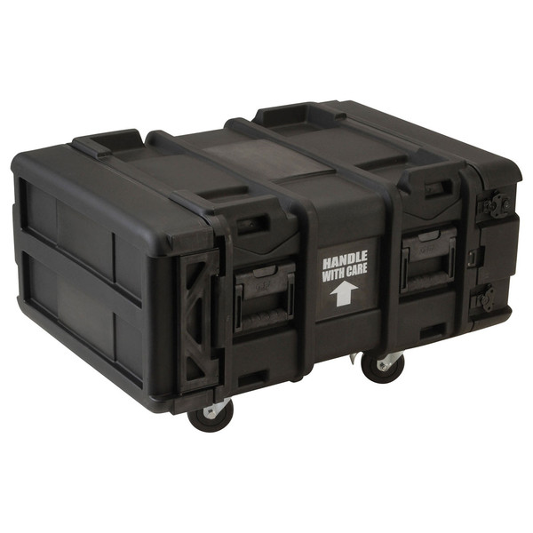SKB 24'' Deep 4U Roto Shockmount Rack Case - Angled
