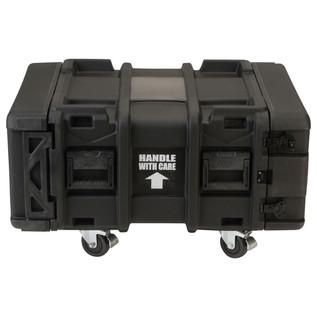 SKB 24'' Deep 4U Roto Shockmount Rack Case - Front Closed