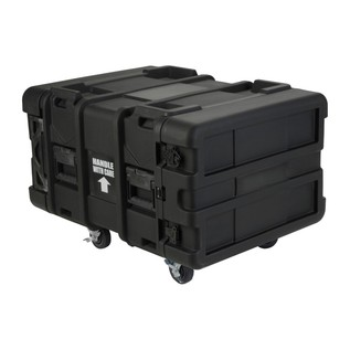 SKB 24'' Deep 6U Roto Shockmount Rack Case - Angled