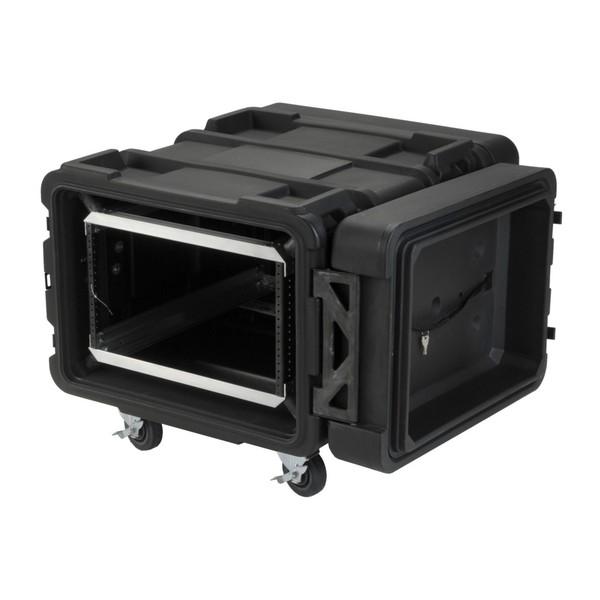 SKB 24'' Deep 6U Roto Shockmount Rack Case - Angled Open