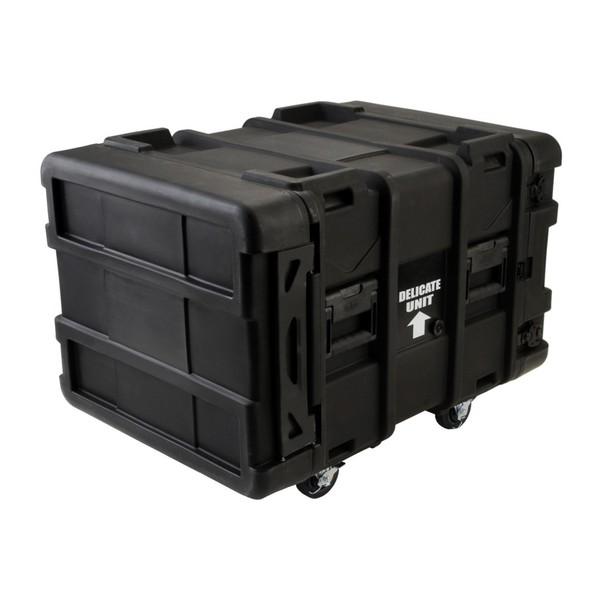 SKB 24'' Deep 8U Roto Shockmount Rack Case - Angled
