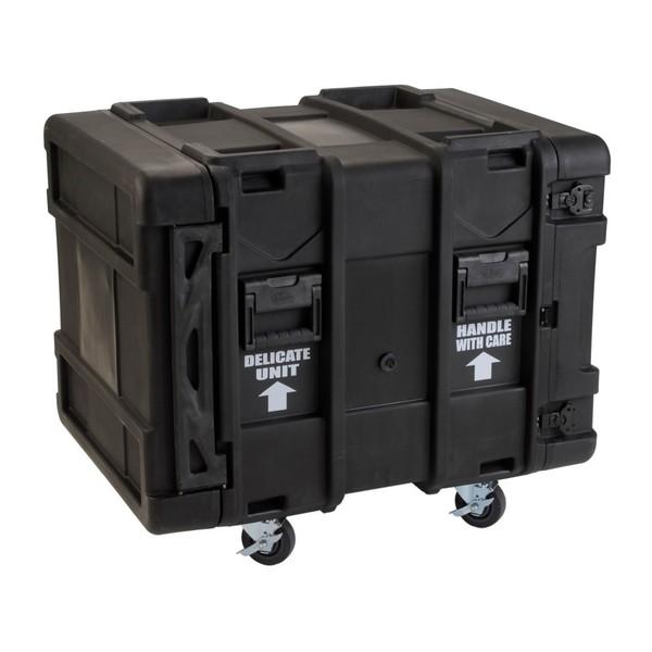 SKB 24'' Deep 10U Roto Shockmount Rack Case - Angled