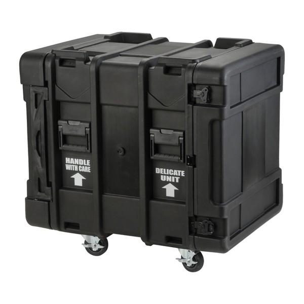 SKB 24'' Deep 12U Roto Shockmount Rack Case - Angled