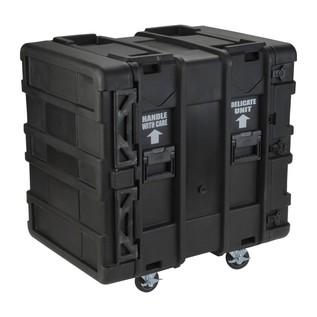 SKB 24'' Deep 14U Roto Shockmount Rack Case - Angled