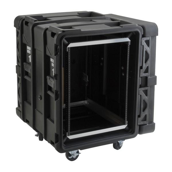 SKB 24'' Deep 14U Roto Shockmount Rack Case - Angled Open